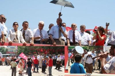 DP adaylarının Türkoğlu ziyareti