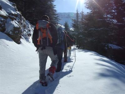 KADAK Yavşan'a kar yürüyüşü yaptı