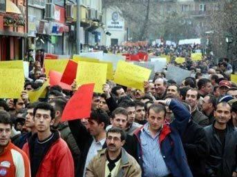 Çalışanlar eylem yaptı, Türkiye'de hayat durdu