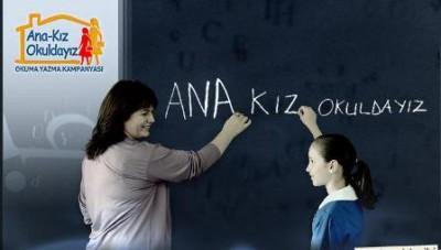 Ekinözü'nde 'ana-kız okuldayız' kampanyası