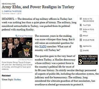 NYT'den ordu hakkında çarpıcı analiz!