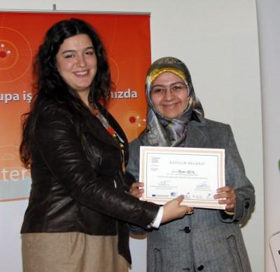 'İş'te Kadın Emeği' Programına katılanlara Sertifika