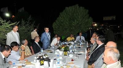 Albay Sezai Akgün'e 'Veda Yemeği' düzenlendi..