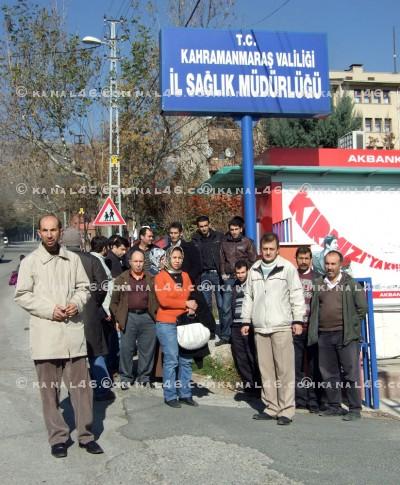 Sağlık'ta işsiz kalan şirket işçileri eylem yaptı!