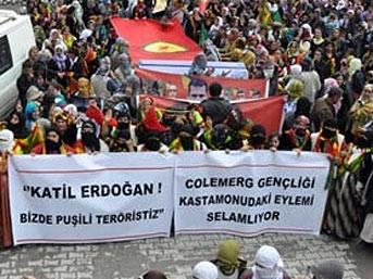 ŞOK: BDP mitinginde tehlikeli pankart!..