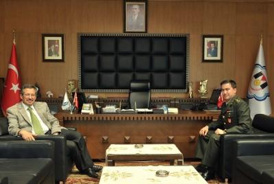 Askerlik Şubesi yeni başkanından ziyaret..