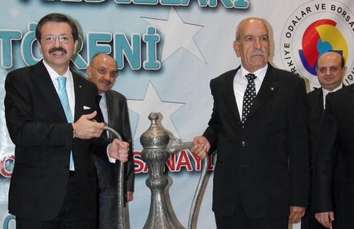 Rifat Hisarcıklıoğlu ödül törenine katıldı..