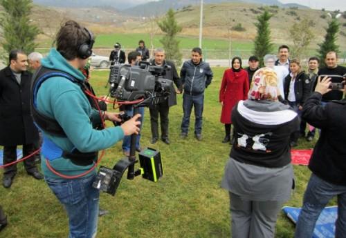'Herkes için spor' programı Kılavuzlu'da çekildi..