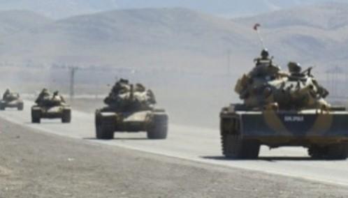 Suriye sınırında askeri sevkiyat..