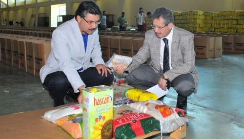 Ramazan erzak paketleri hazırlanıyor…