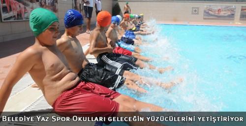 Yaz Spor Okulları geleceğin yüzücülerini yetiştiriyor...