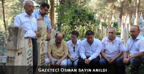 Merhum Osman Sayın mezarı başında anıldı...