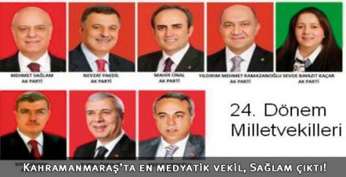Kahramanmaraş'ta en medyatik vekil 'Sağlam' çıktı!..