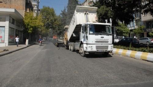 Azerbaycan Bulvarı asfaltlanıyor..