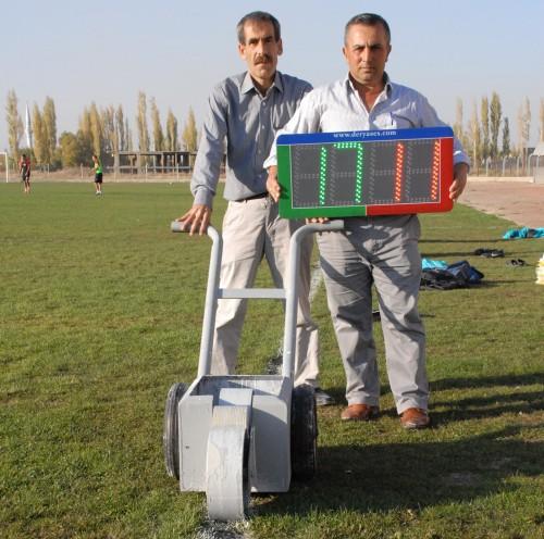 Elbistan'a saha çizim makinesi ve skorbord…