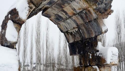 Çağlayancerit ilçesinde kar yağışı…