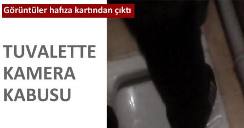 Afşin'de işyeri tuvaletinde gizli kamera..