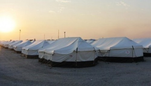 Midyat'a da çadır kent kuruluyor..