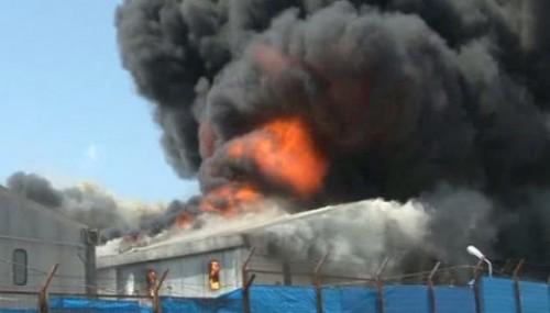 Çadır kent'te yangın..