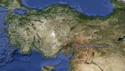Pazarcık'ta 3.2 büyüklüğünde deprem..