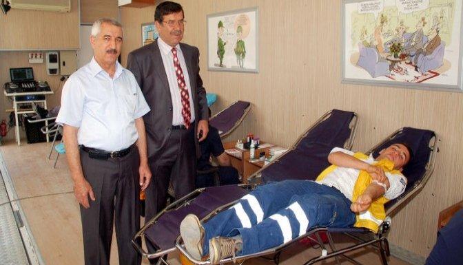 Afşin'de kan bağışı kampanyası..