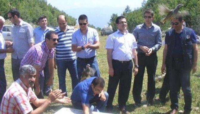 Andırın'da 750 keklik doğaya bırakıldı..