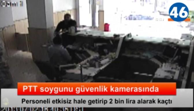 PTT soygunu güvenlik kamerasında- VİDEO