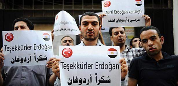 Mısır'da Erdoğan pankartları