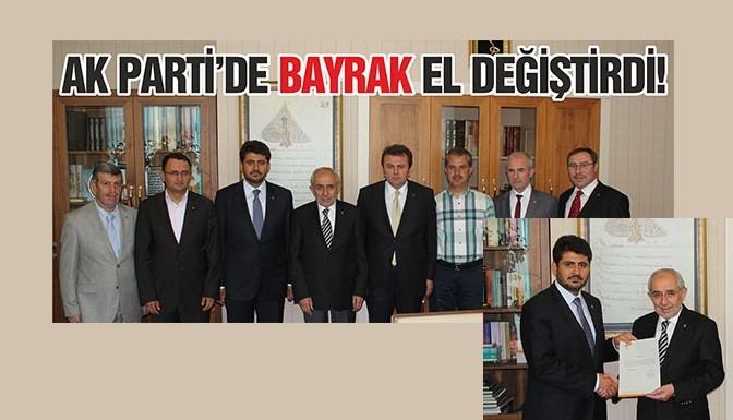 AK Parti'de bayrak el değiştirdi!