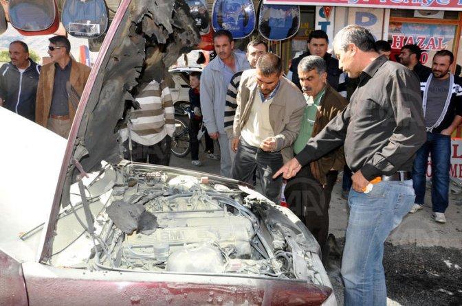 LPG'li otomobil park halindeyken patladı