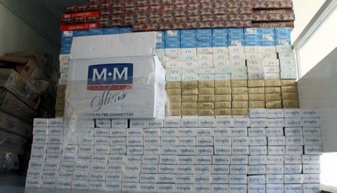 Pazarcık'ta kaçak sigara operasyonu