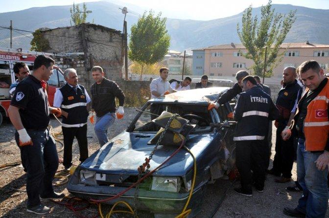 Elbistan'da acil kurtarma tatbikatı