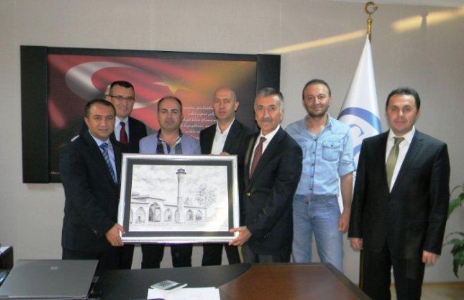 KALİDA'lı inşaatçılar SGK İl Müdürünü ziyaret etti