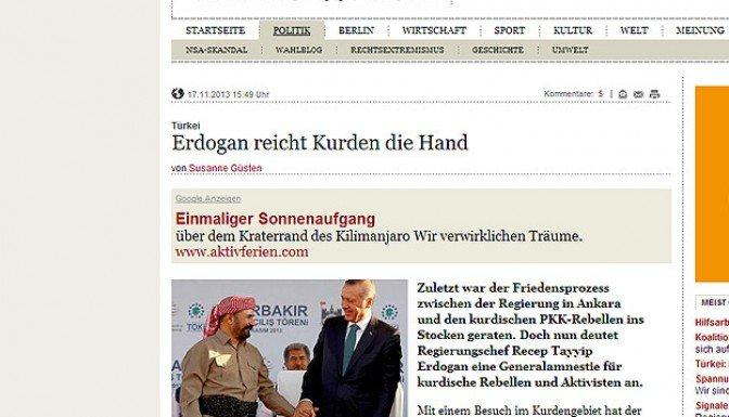 Erdoğan-Barzani görüşmesi Alman basınında