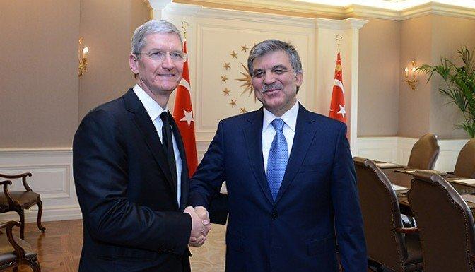 Gül, Apple üstyöneticisi Tim Cook'u kabul etti