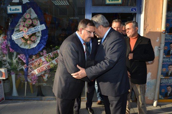 Başkan Hurç, AK Parti adayı Aydın'ı ziyaret etti