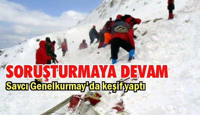 Yazıcıoğlu kazasına Genelkurmay'da keşif