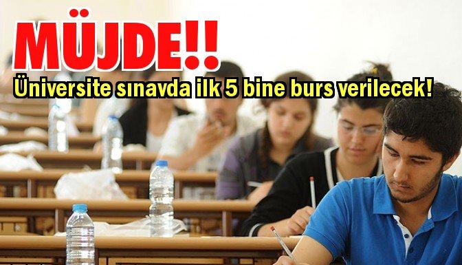 Sınavda dereceye girene burs müjdesi!