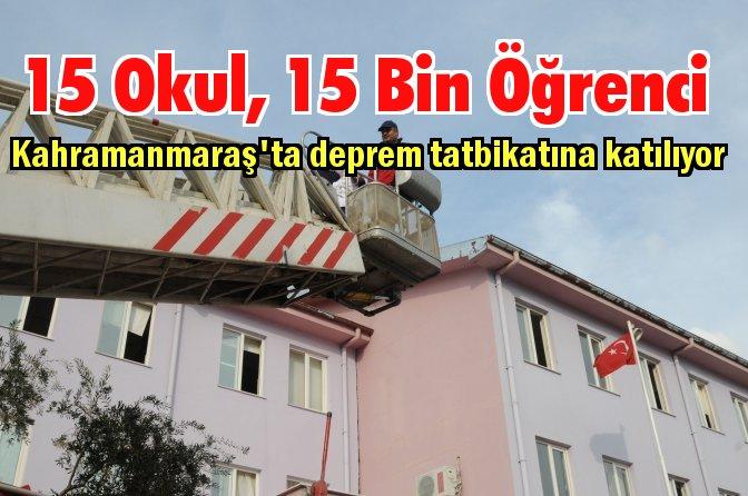 Fay hattı üzerindeki kentte deprem tatbikatı