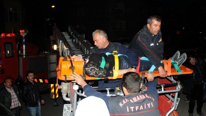 Kale'nin surlarından düşen kadın ağır yaralandı