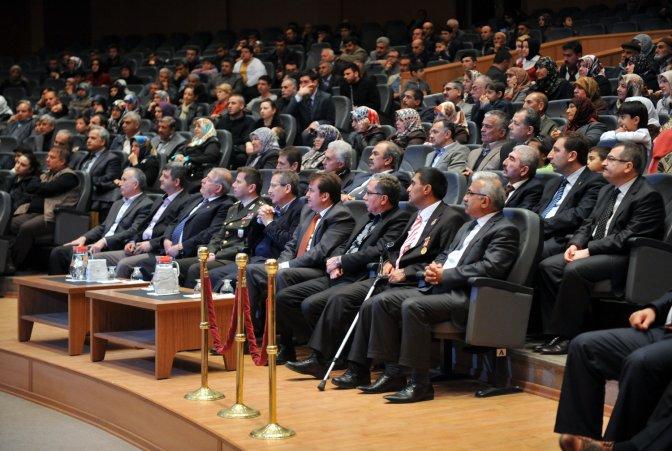 Erkoç, Şehitleri Anma Gecesi'ne katıldı