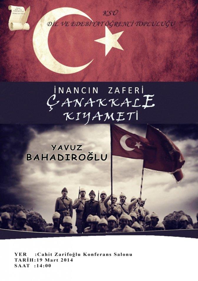 Çanakkale Kıyameti'ni Yavuz Bahadıroğlu anlatacak