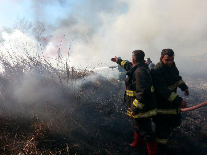 Aksu Mahallesi Sazlık Alanda Yangın