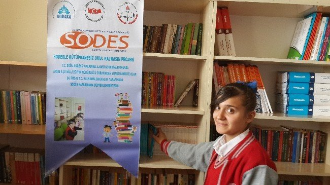 SODES'le Okullara Kitap Dağıtıldı