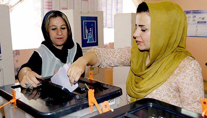 Irak'ta halk sandık başında
