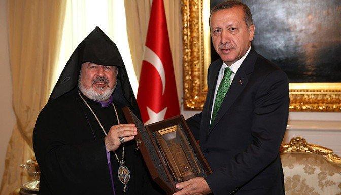 Erdoğan Ermeni Patrik Vekilini kabul etti