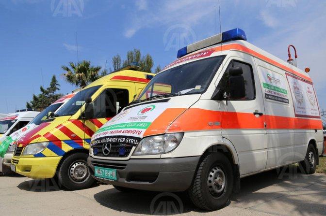 Suriye'ye ambulans ve mobil hastane