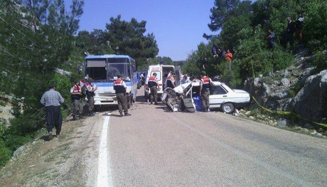 Mersin'de trafik kazası: 1 ölü 6 yaralı