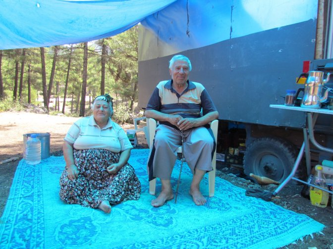 Traktör römorkunda karavan tatili