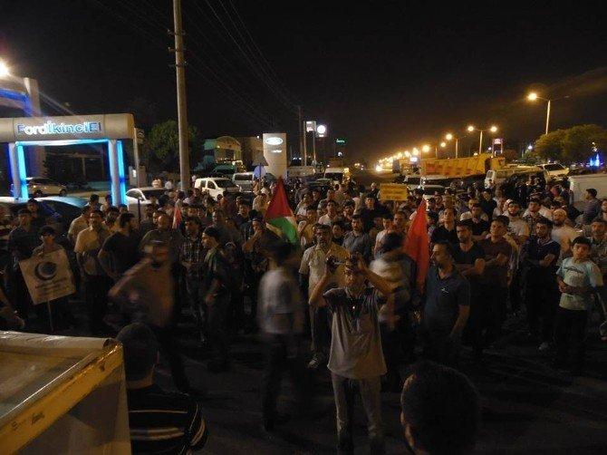 Sahurda ABD Konsolosluğu Önünde İsrail Protestosu